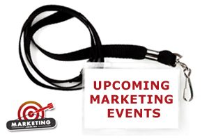lanyard with upcoming marketing events written on it