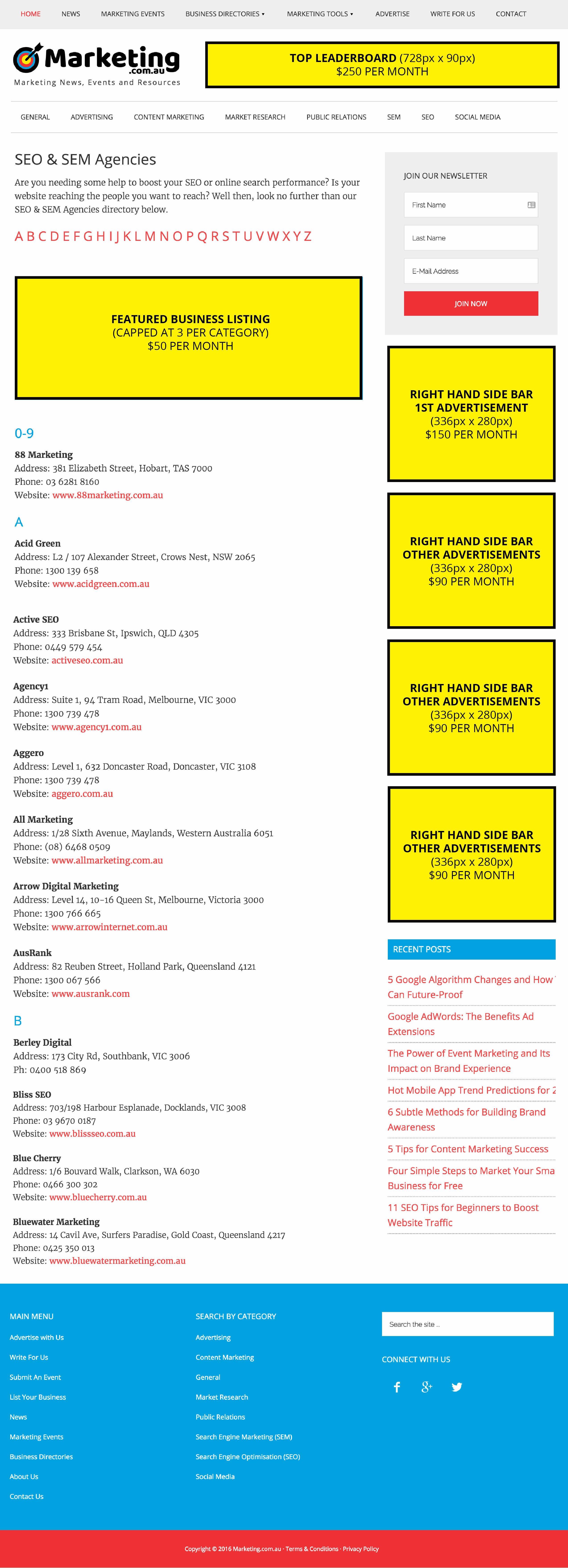 marketing com au media kit business listing