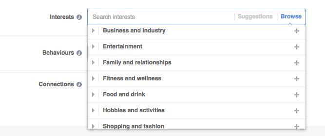 facebook ads interests