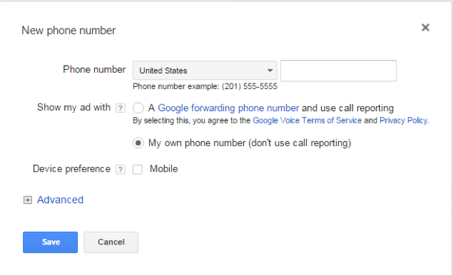 adding the contact numbers for your viewers
