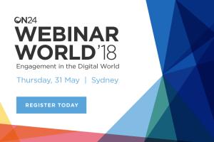 Webinar World Sydney 2018
