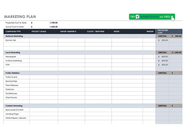 6 free marketing plan templates marketing thinkbusiness marketing plan template maxwellsz