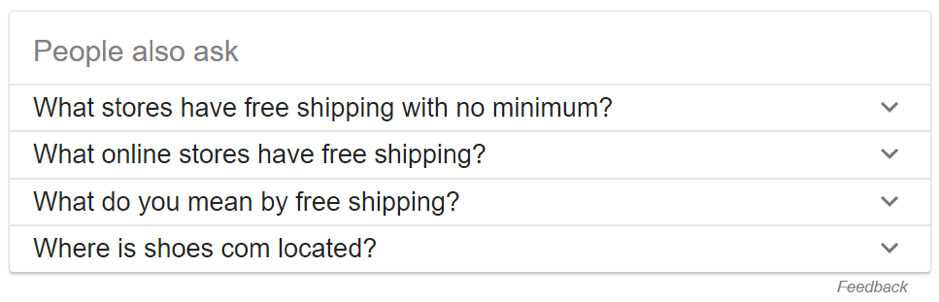 "Google search under ""People also ask."""