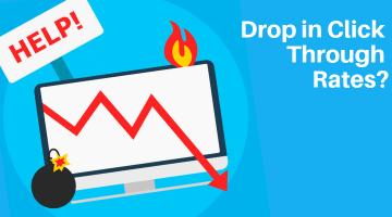 Drop in click through rates website seo